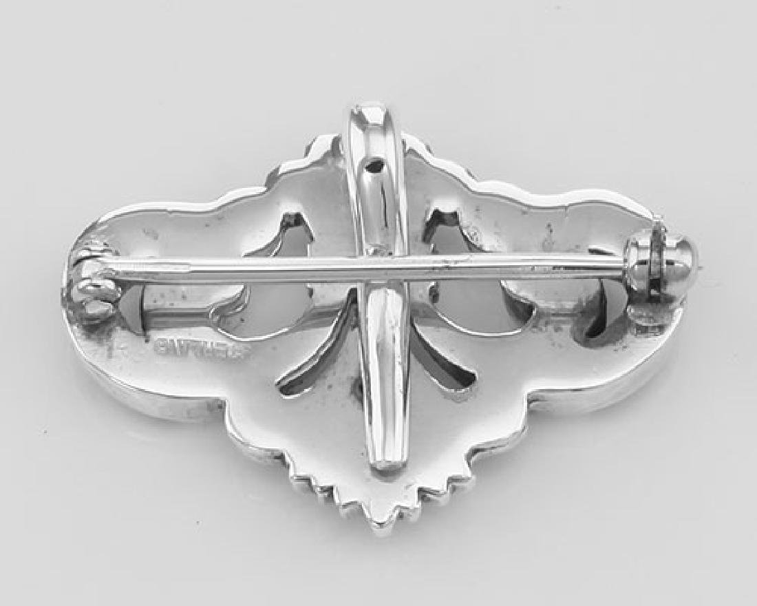 Watch Pin or Charm Hanger Pin - Sterling Silver - 2