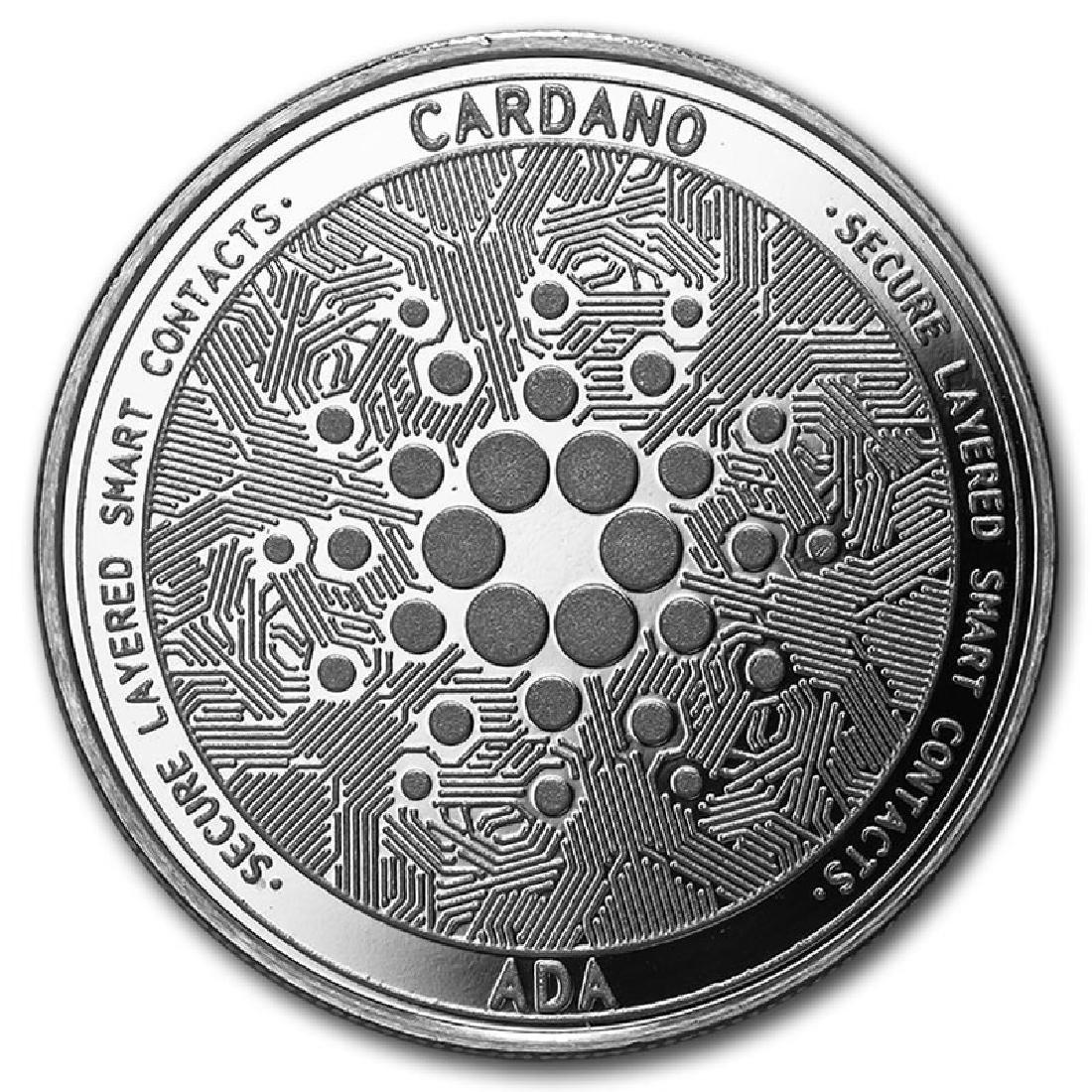 1 oz Silver Bullion Cryptocurrency Cardano Round .999 f