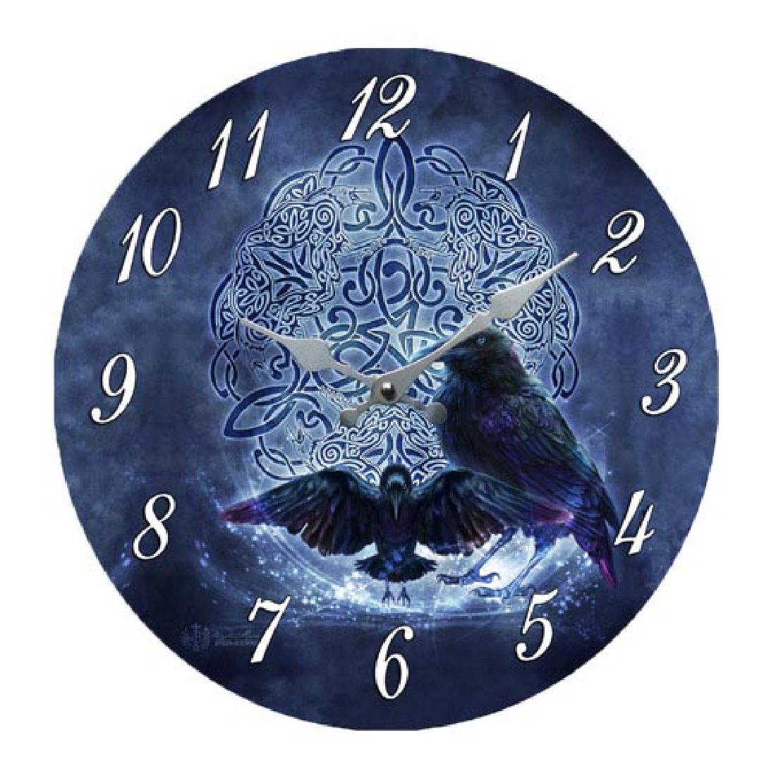 CELTIC RAVEN CLOCK