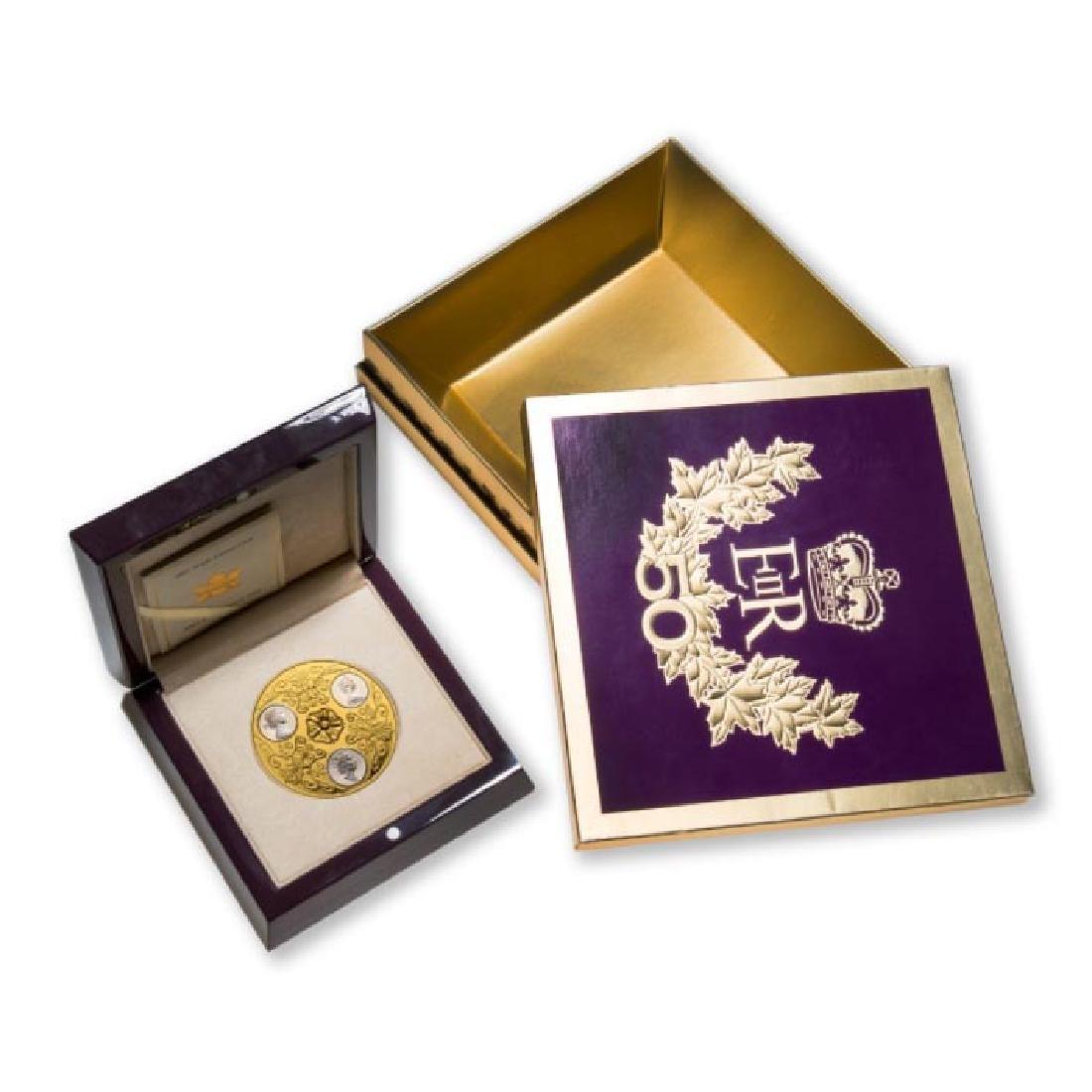 2002 Canada $300 Triple Cameo Queen Elizabeth II Gold a