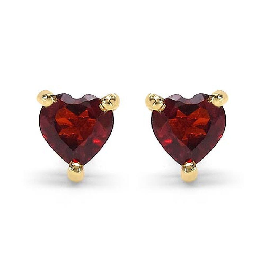 0.70 CTW Genuine Garnet 10K Yellow Gold Earrings