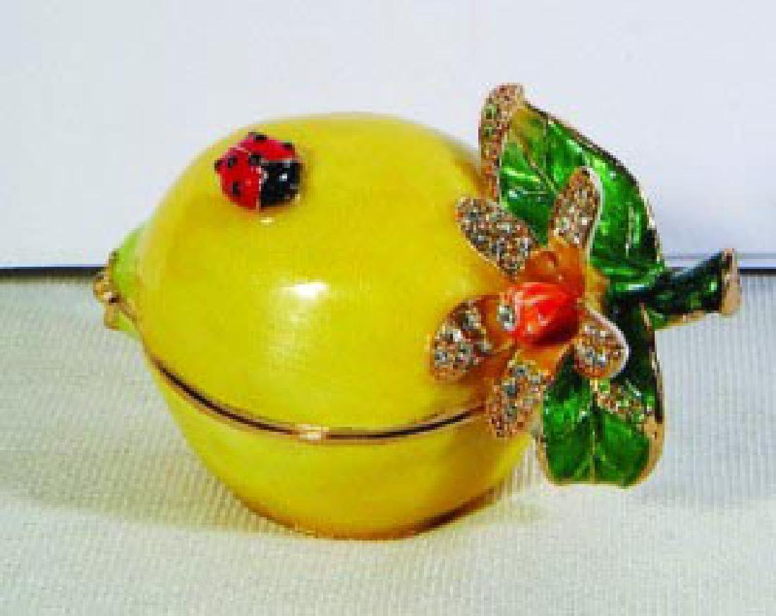 LEMON BEJEWELED BOX
