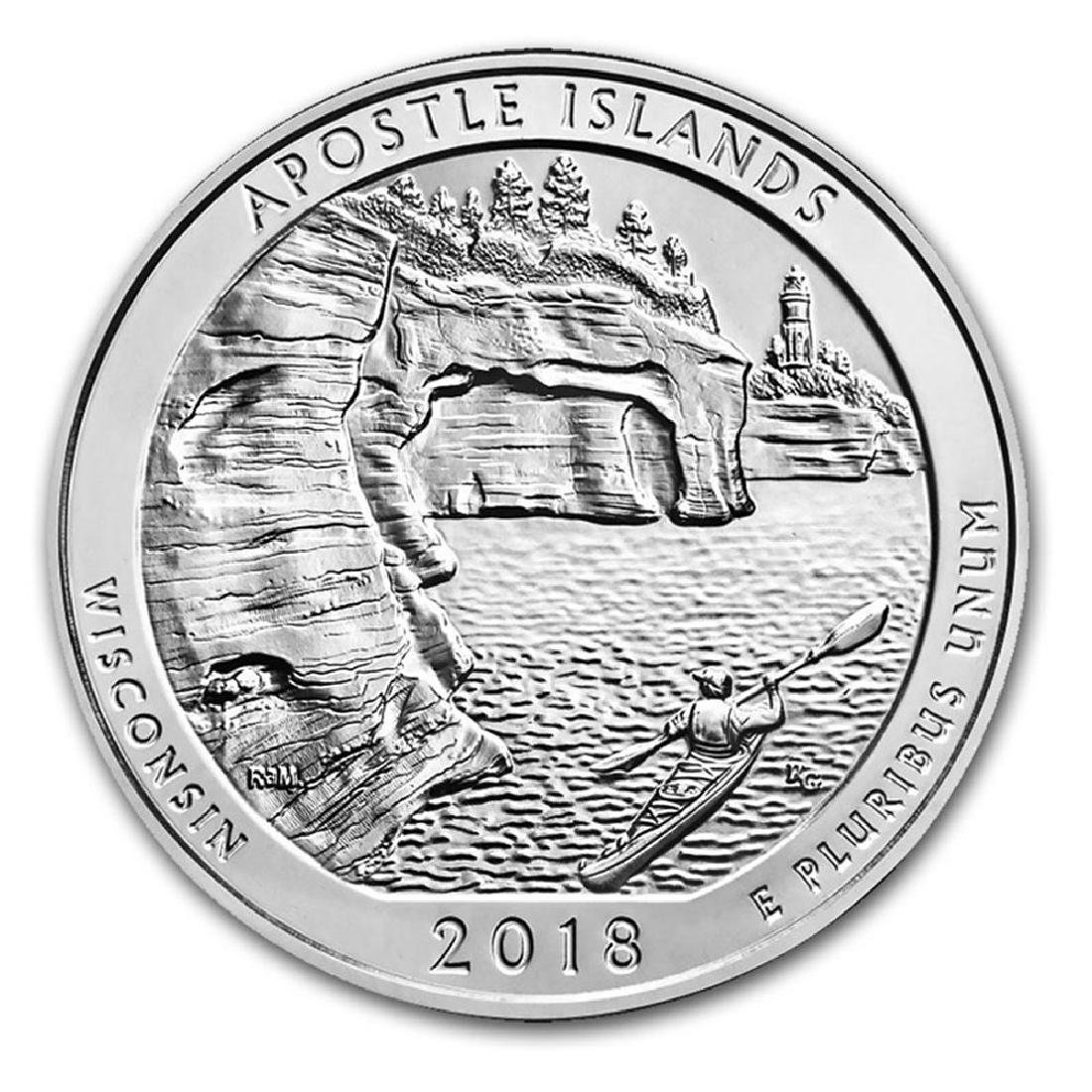 2018 Silver 5oz. Apostle Islands National Lakeshore ATB