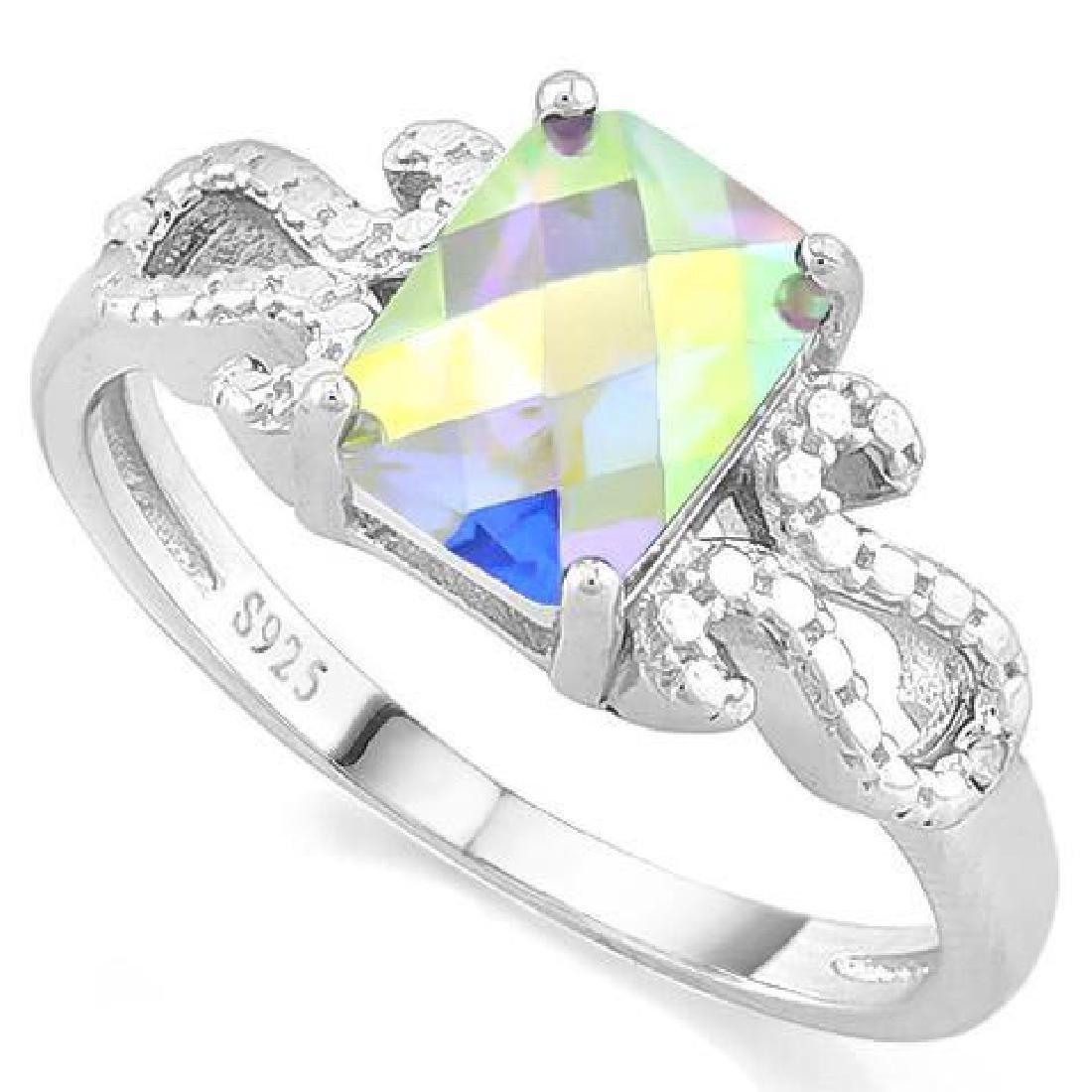 1 1/3 CARAT MERCURY MYSTIC TOPAZ DIAMOND 925 STERLING S