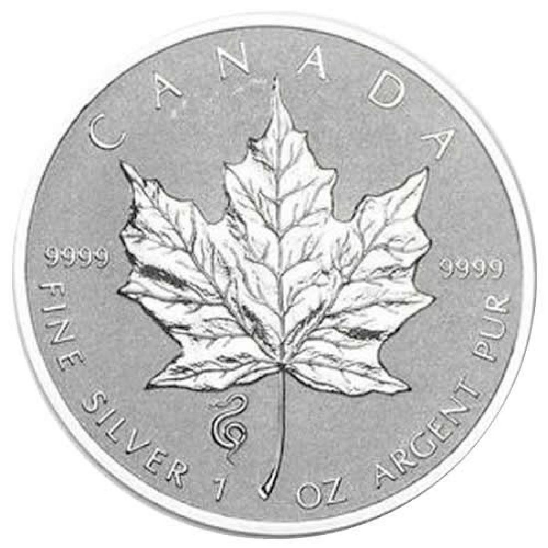 2013 Canada 1 oz. Silver Maple Leaf Reverse Proof Snake