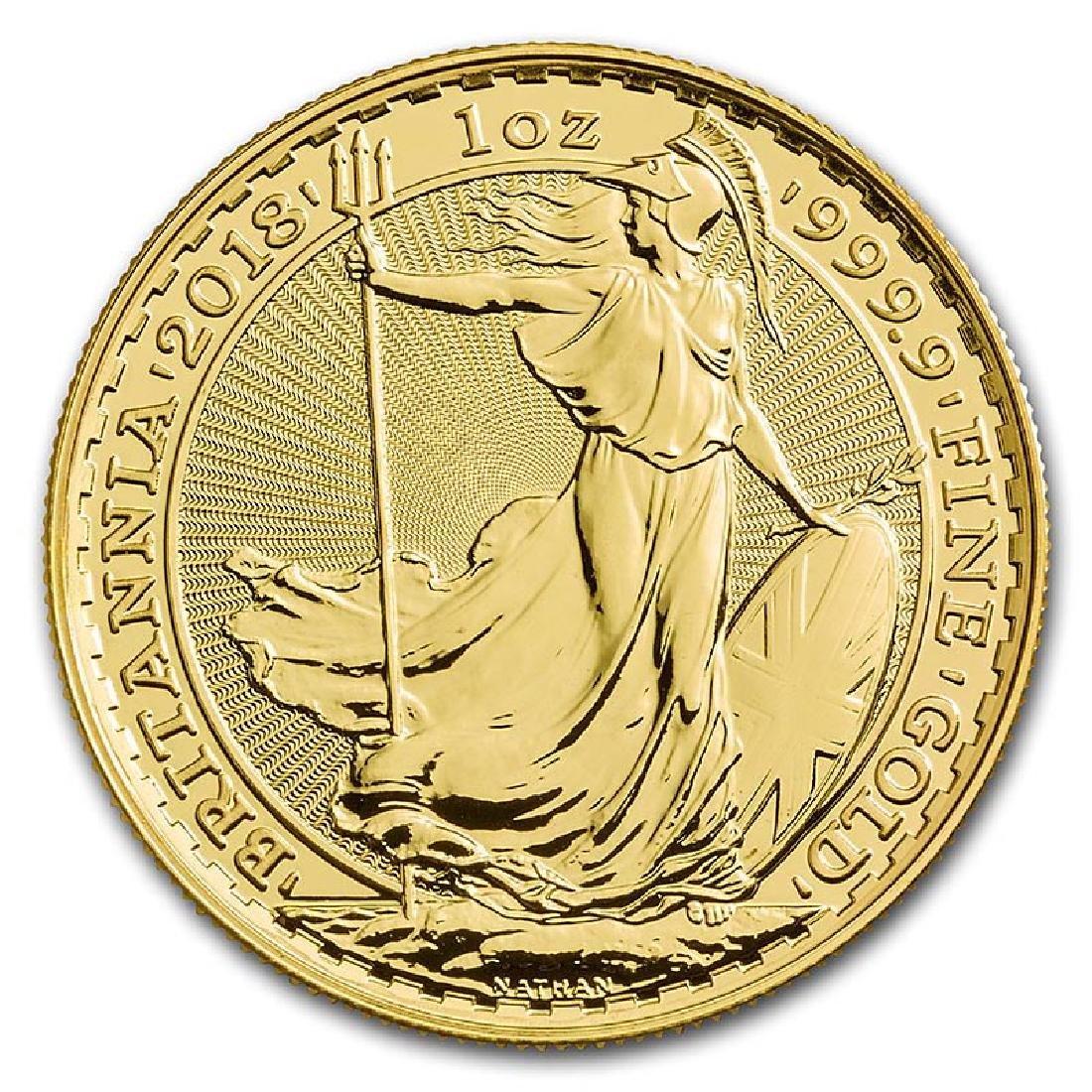 Great Britain 1 oz Gold 2018 Britannia BU