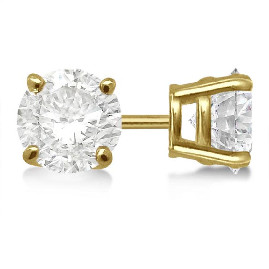 CERTIFIED 1 CTW ROUND E/SI1 DIAMOND SOLITAIRE EARRINGS