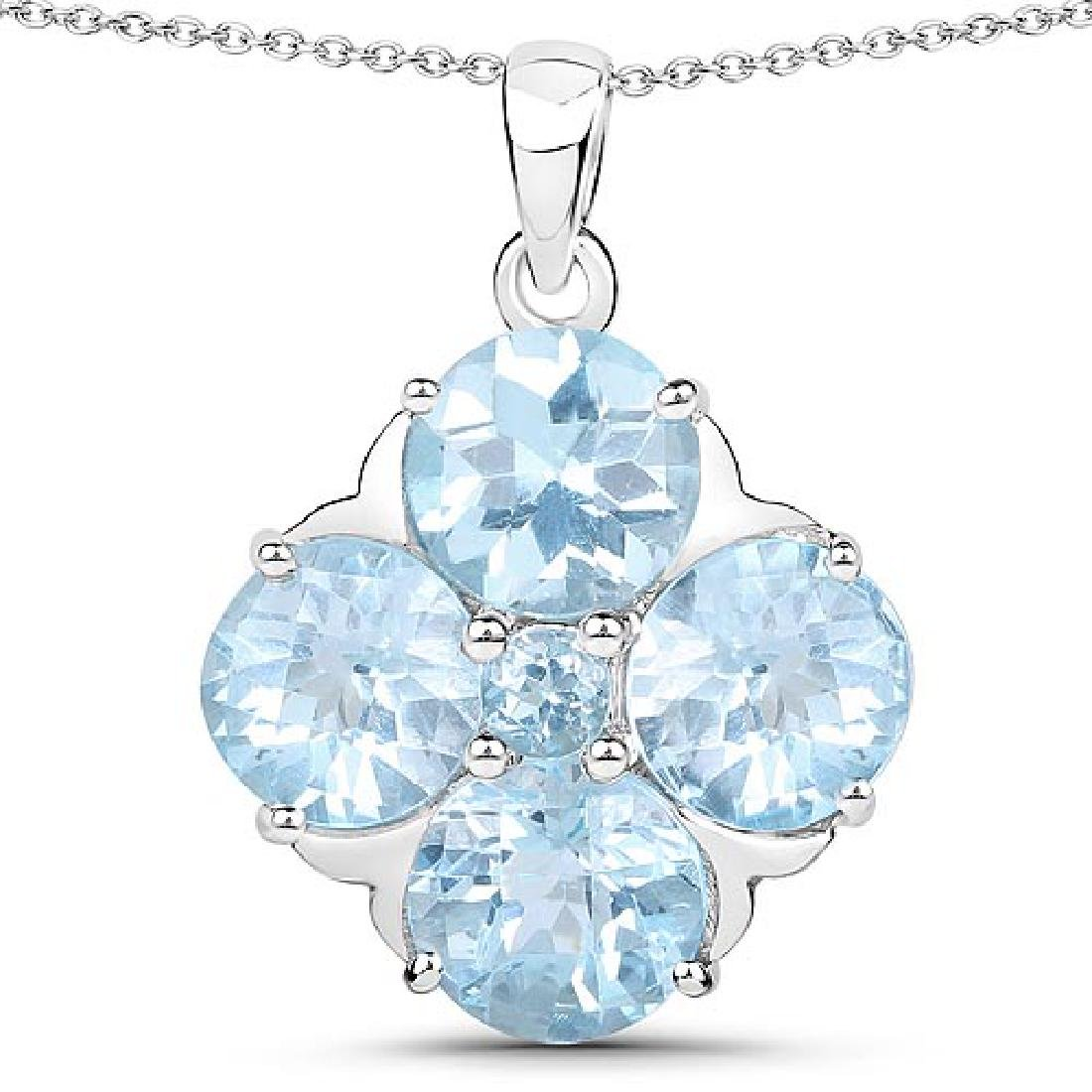 12.61 CTW Genuine Blue Topaz .925 Sterling Silver Penda