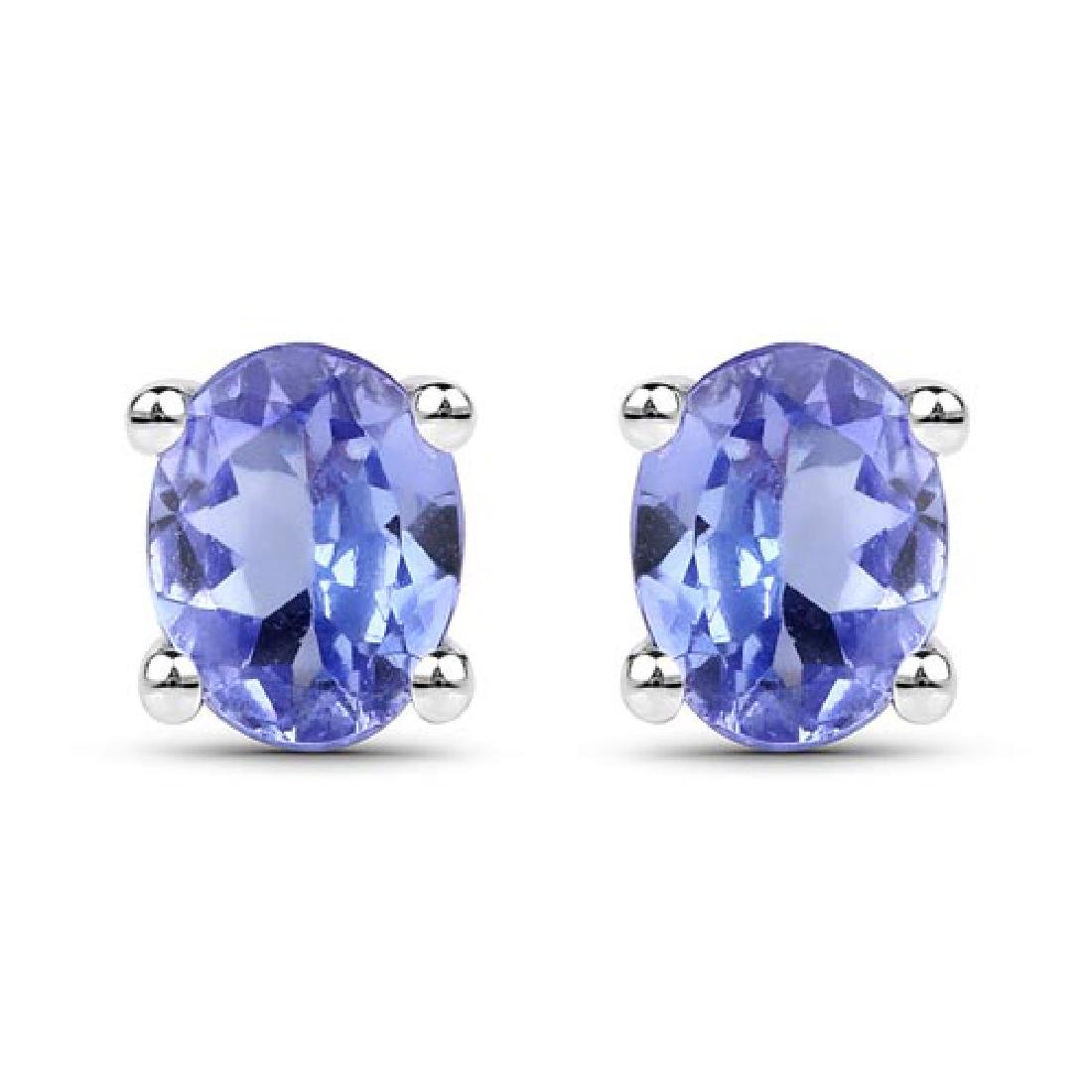 0.40 CTW Genuine Tanzanite .925 Sterling Silver Earring