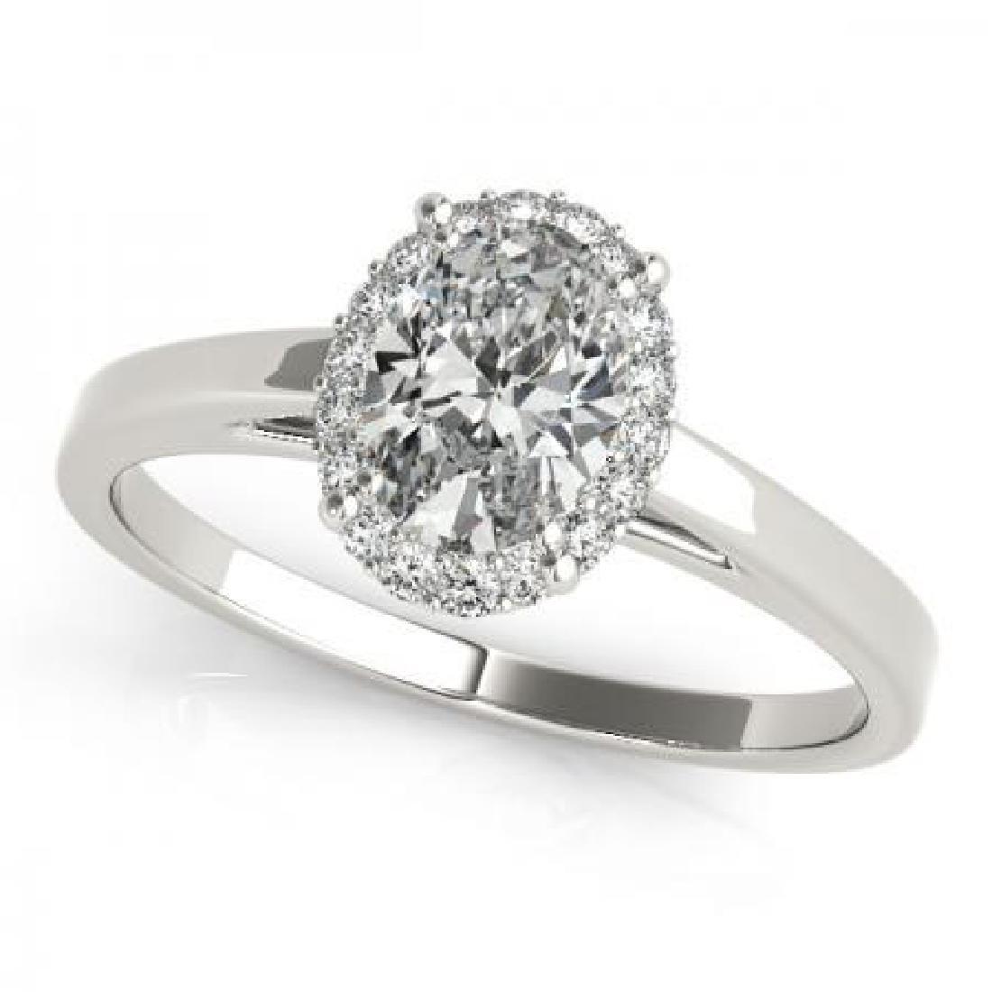 CERTIFIED 18KT WHITE GOLD 1.11 CTW G-H/VS-SI1 DIAMOND H