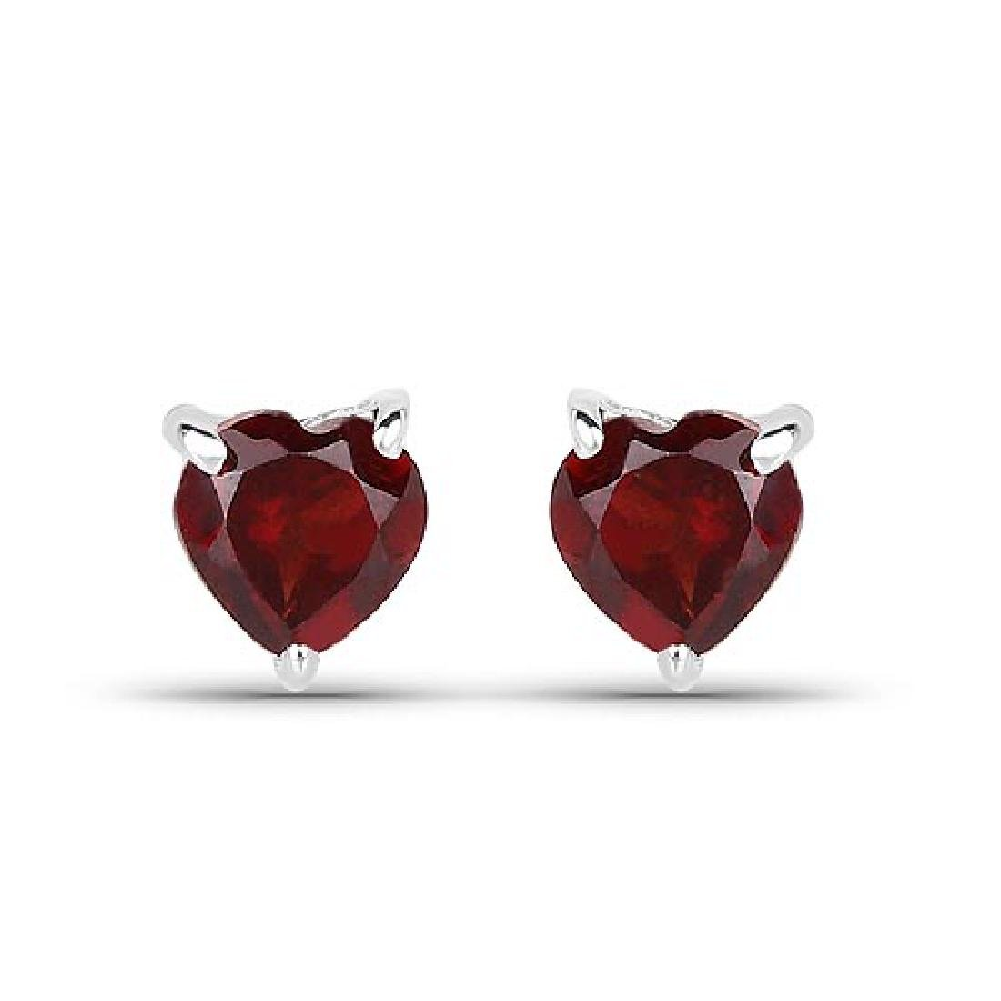 0.64 CTW Genuine Garnet .925 Sterling Silver Earrings