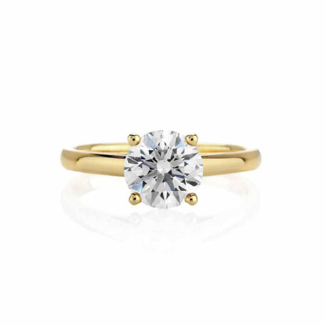 CERTIFIED 0.9 CTW I/VS1 ROUND DIAMOND SOLITAIRE RING IN