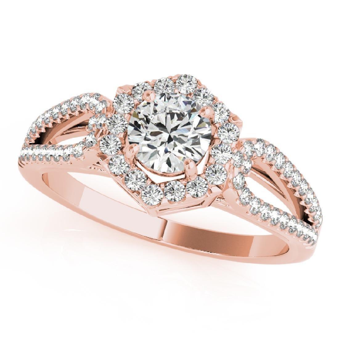 CERTIFIED 18K ROSE GOLD 1.38 CT G-H/VS-SI1 DIAMOND HALO