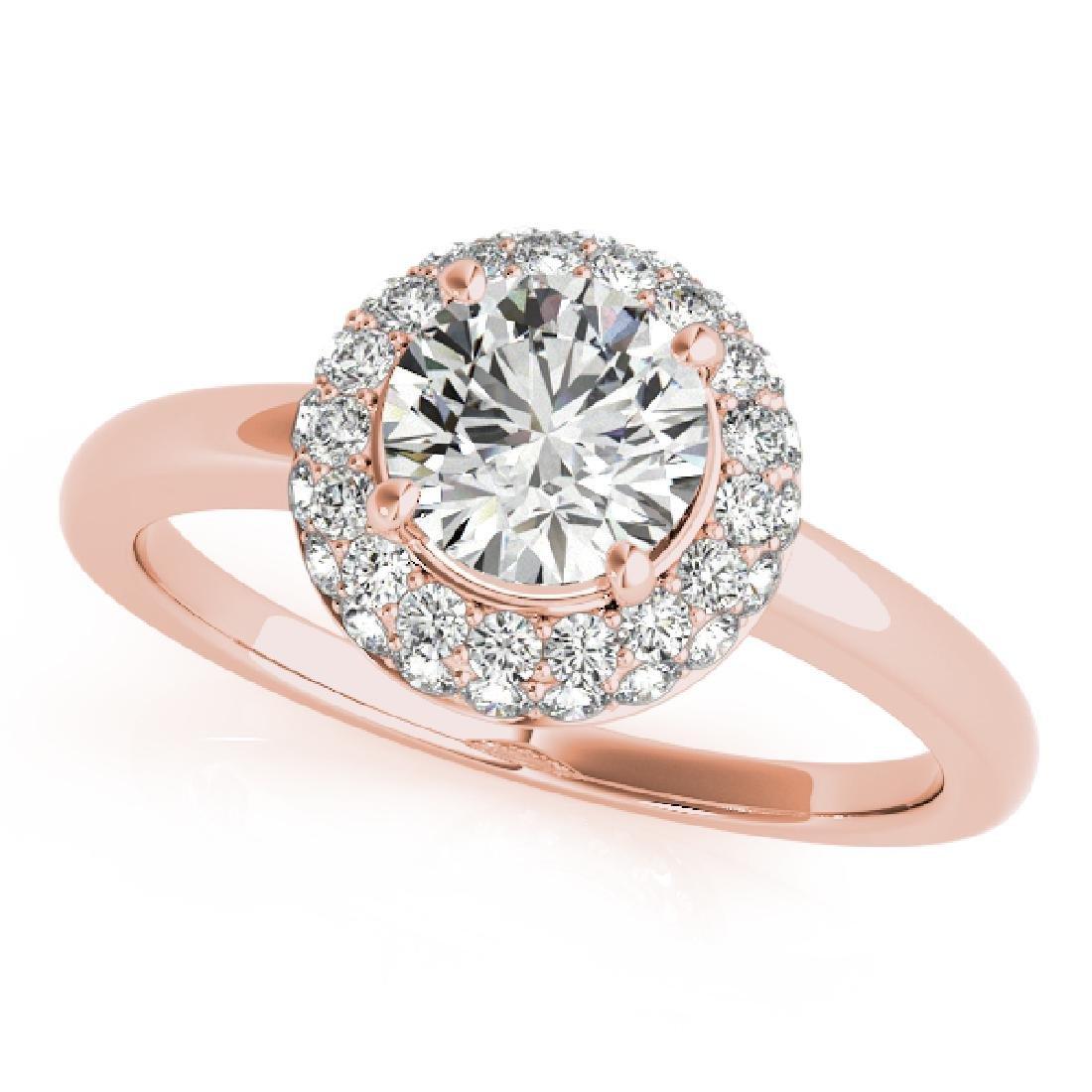 CERTIFIED 18K ROSE GOLD 1.45 CT G-H/VS-SI1 DIAMOND HALO