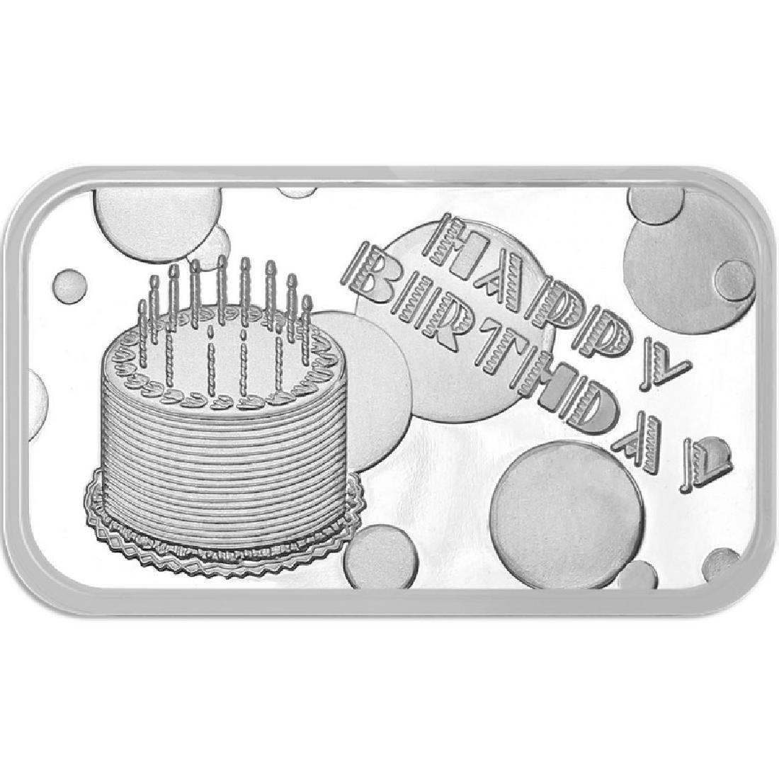 Happy Birthday Cake 2018 .999 Silver 1 oz Bar