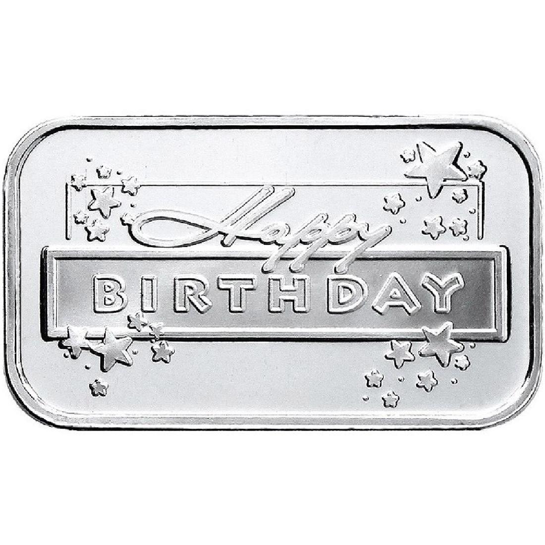 Happy Birthday 2018 .999 Silver 1 oz Bar