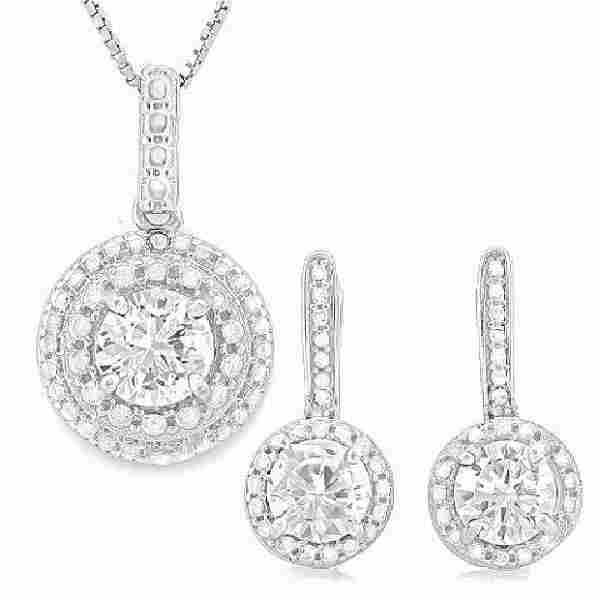 3 25 CARAT CREATED DIAMOND DIAMOND 925 STERLING SILVE