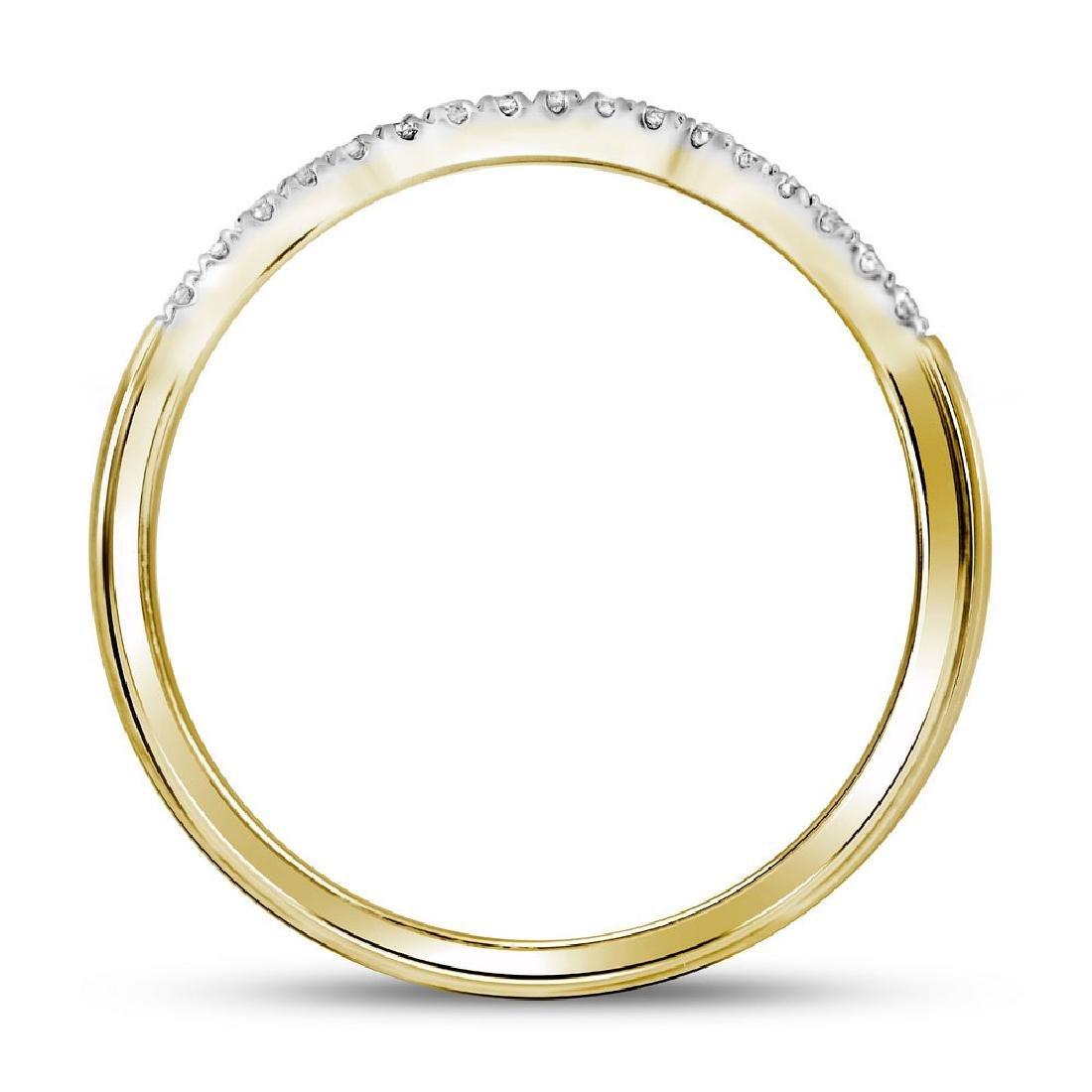 10k Yellow Gold Round Diamond Bridal Wedding Engagement - 3