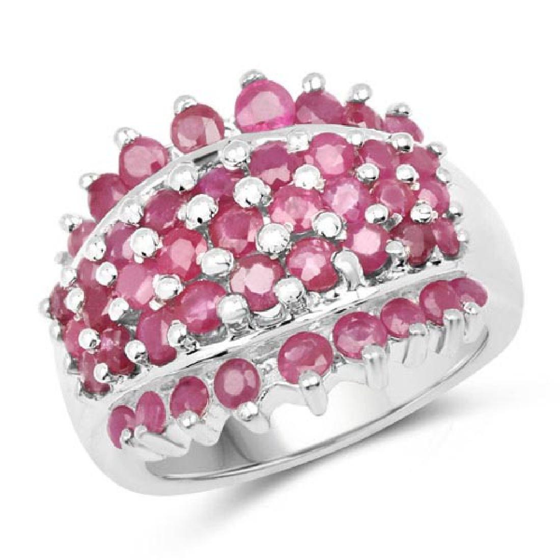 2.70 Carat Genuine Ruby .925 Sterling Silver Ring