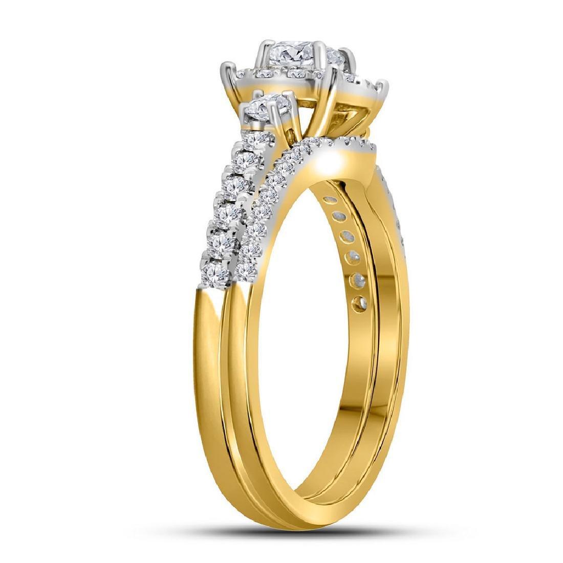 14k Yellow Gold Princess Diamond Bridal Wedding Engagem - 2
