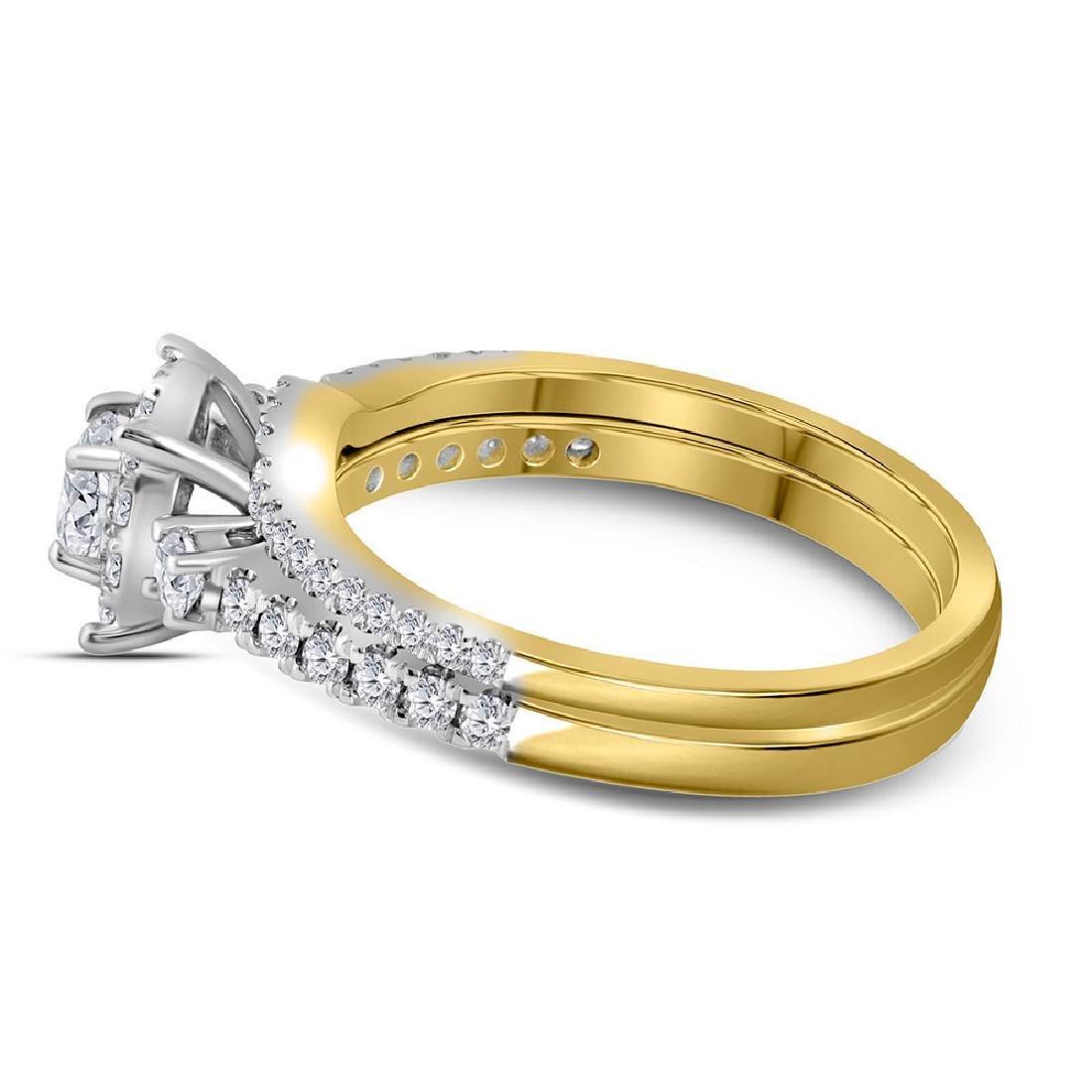 14k Yellow Gold Princess Diamond Bridal Wedding Engagem - 3