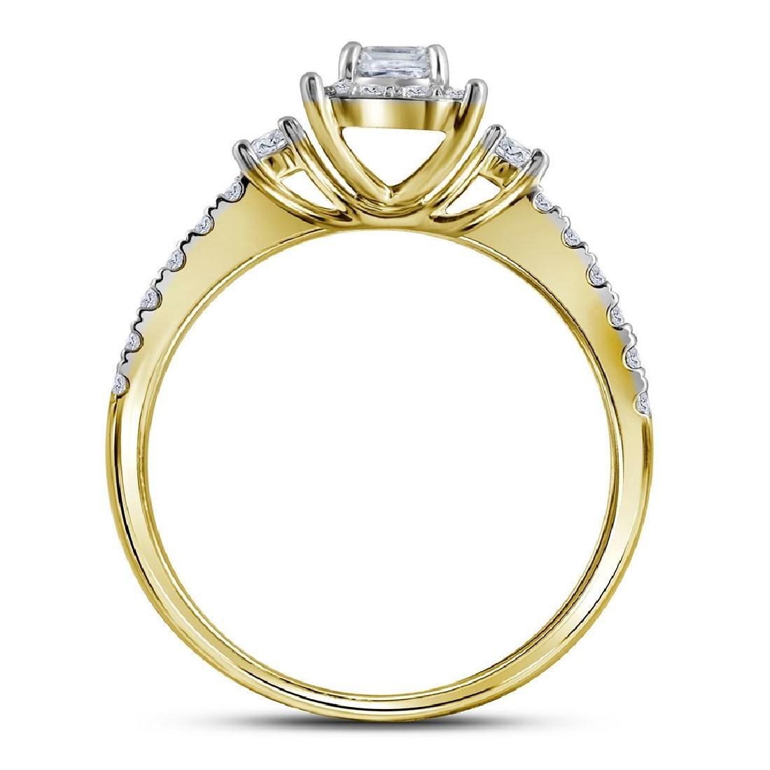 14k Yellow Gold Princess Diamond Bridal Wedding Engagem - 4