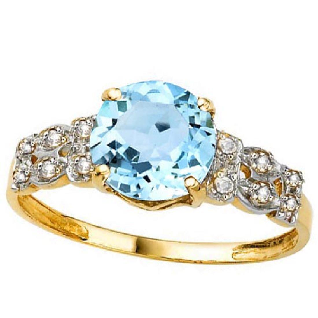 2.37 CTW GENUINE SKY BLUE TOPAZ & GENUINE DIAMOND (12 P
