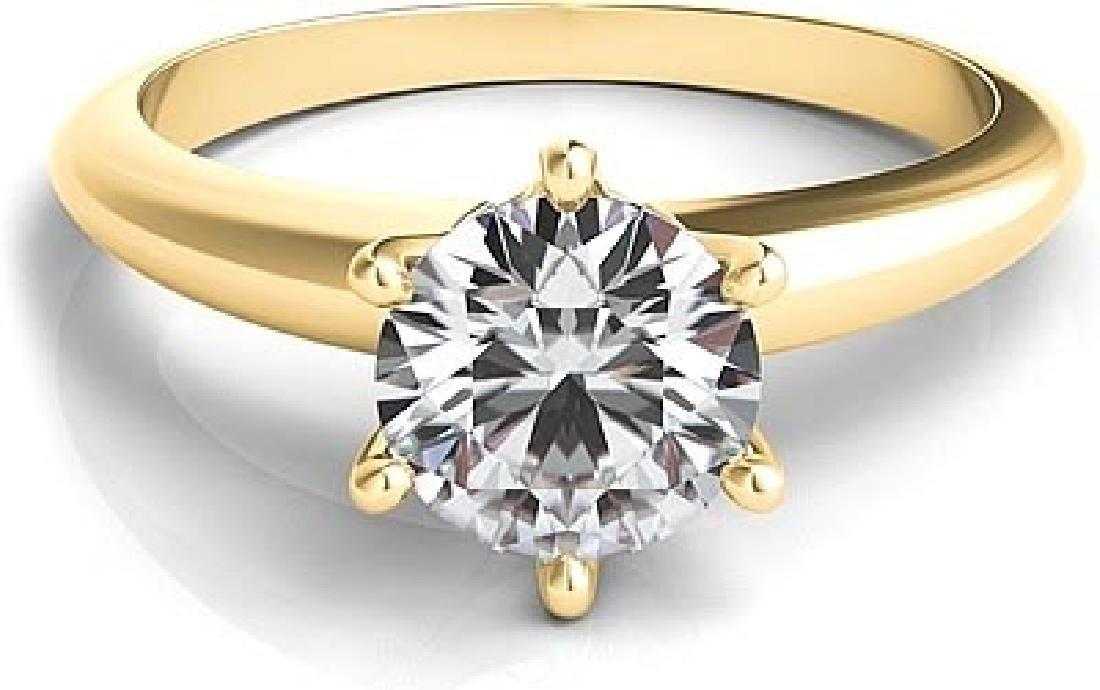 CERTIFIED ROUND 0.6 CTW D/VS1 DIAMOND SOLITAIRE RING IN