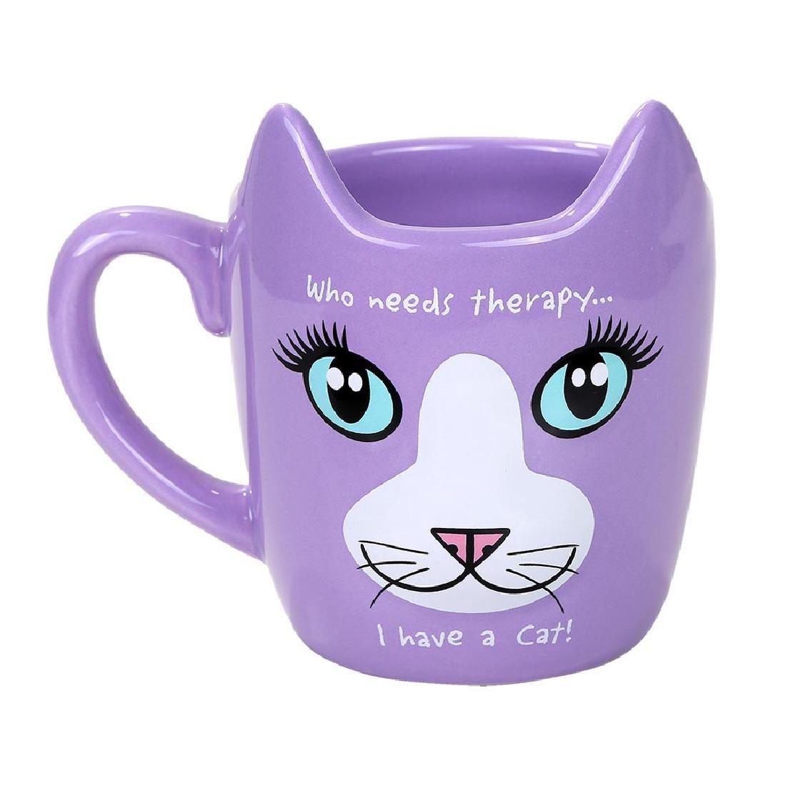 THERAPY CAT MUG