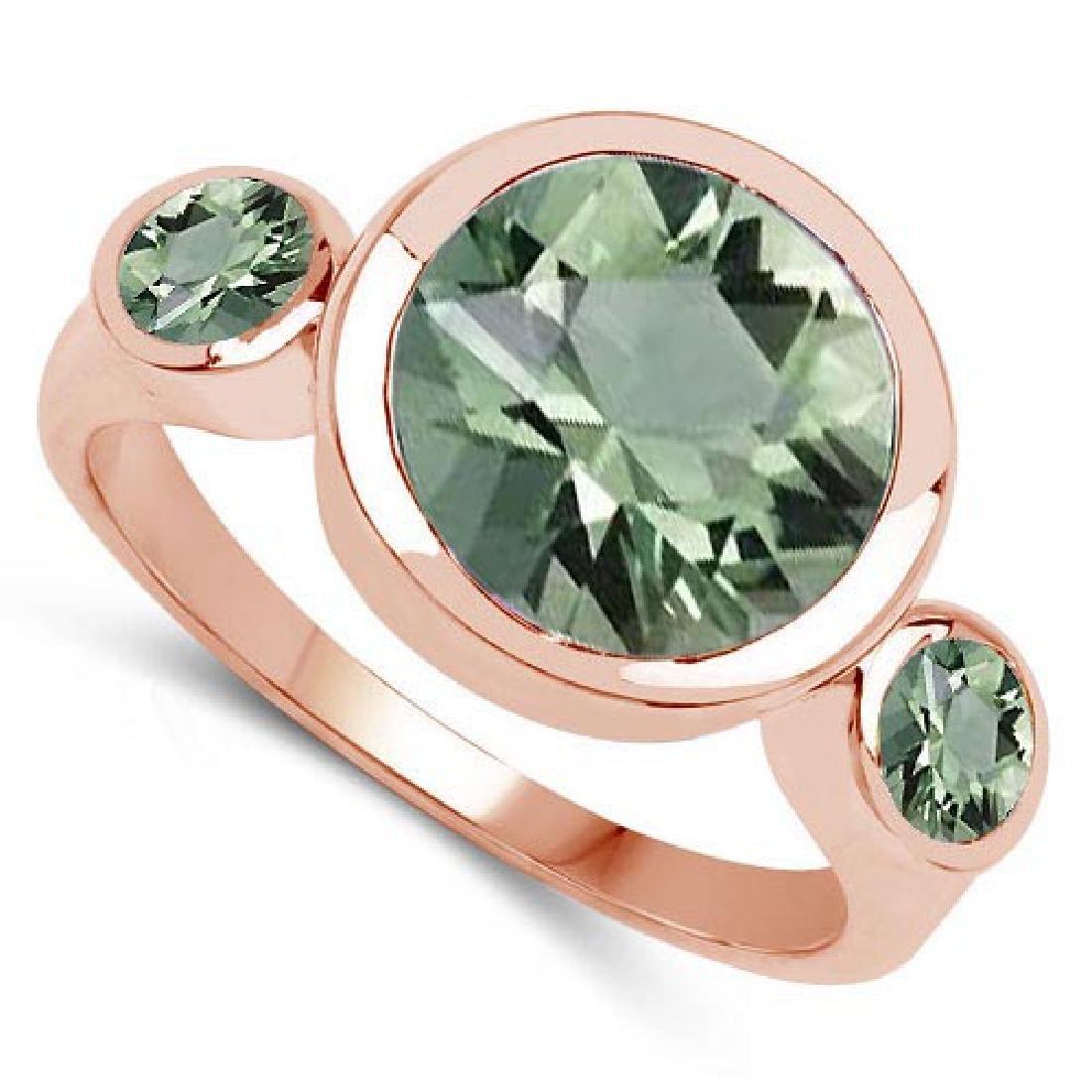 2.60 CTW Green Amethyst 14K Rose Gold Ring