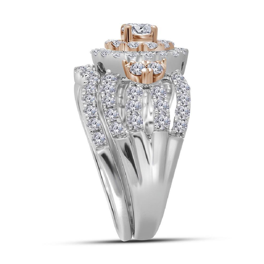 14k White Gold Round Diamond Bridal Wedding Engagement - 2