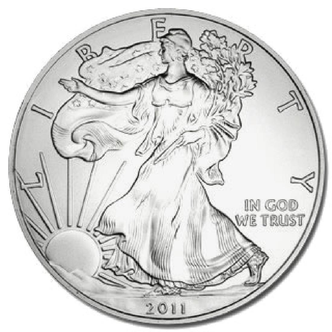 2011 1 oz Silver American Eagle BU