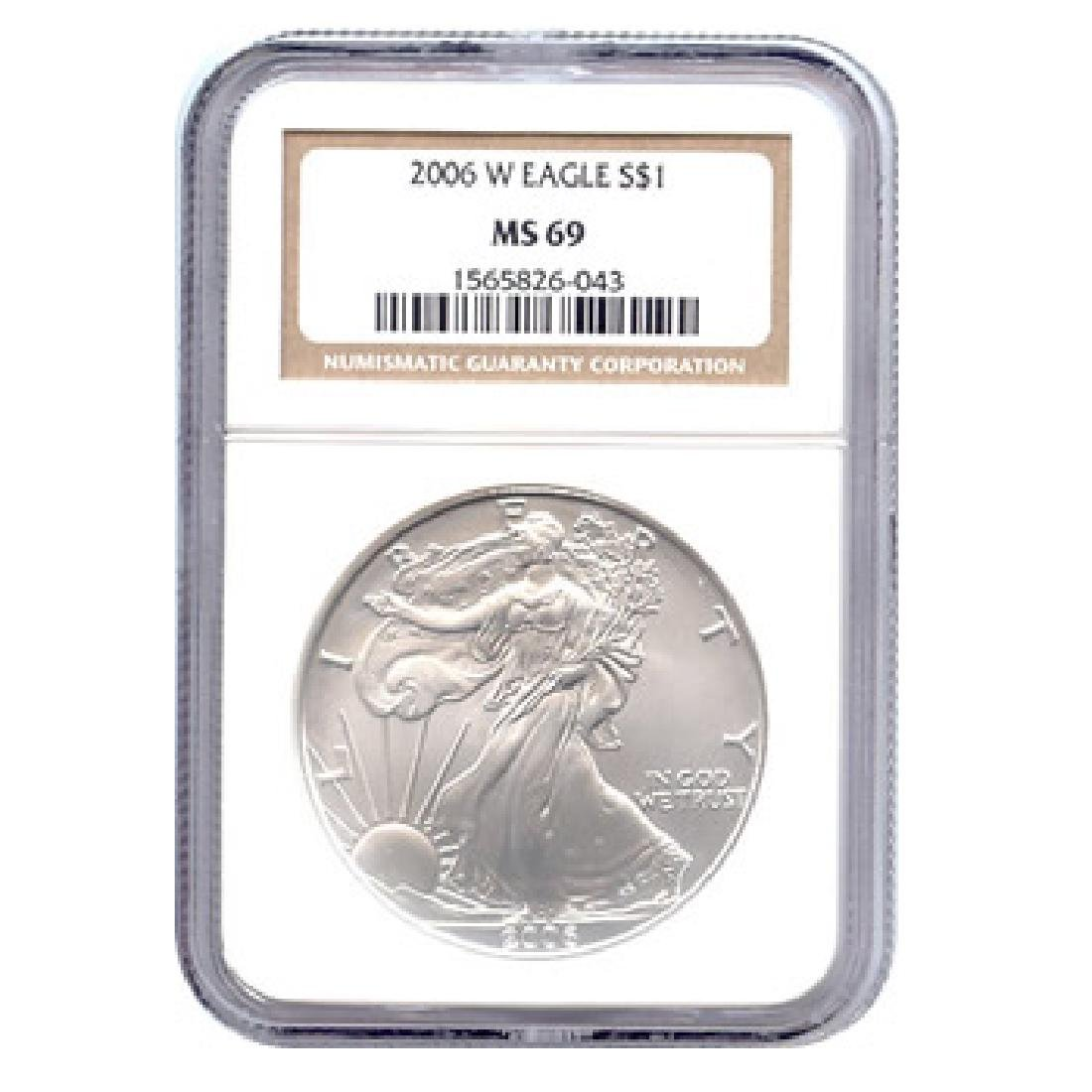 Burnished 2006-W Silver Eagle MS69 NGC