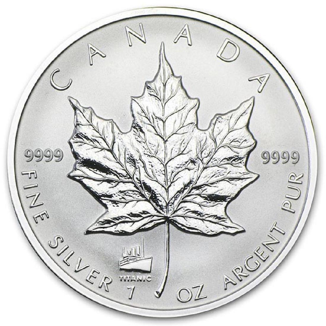 2012 Canada 1 oz. Silver Maple Leaf Reverse Proof Titan