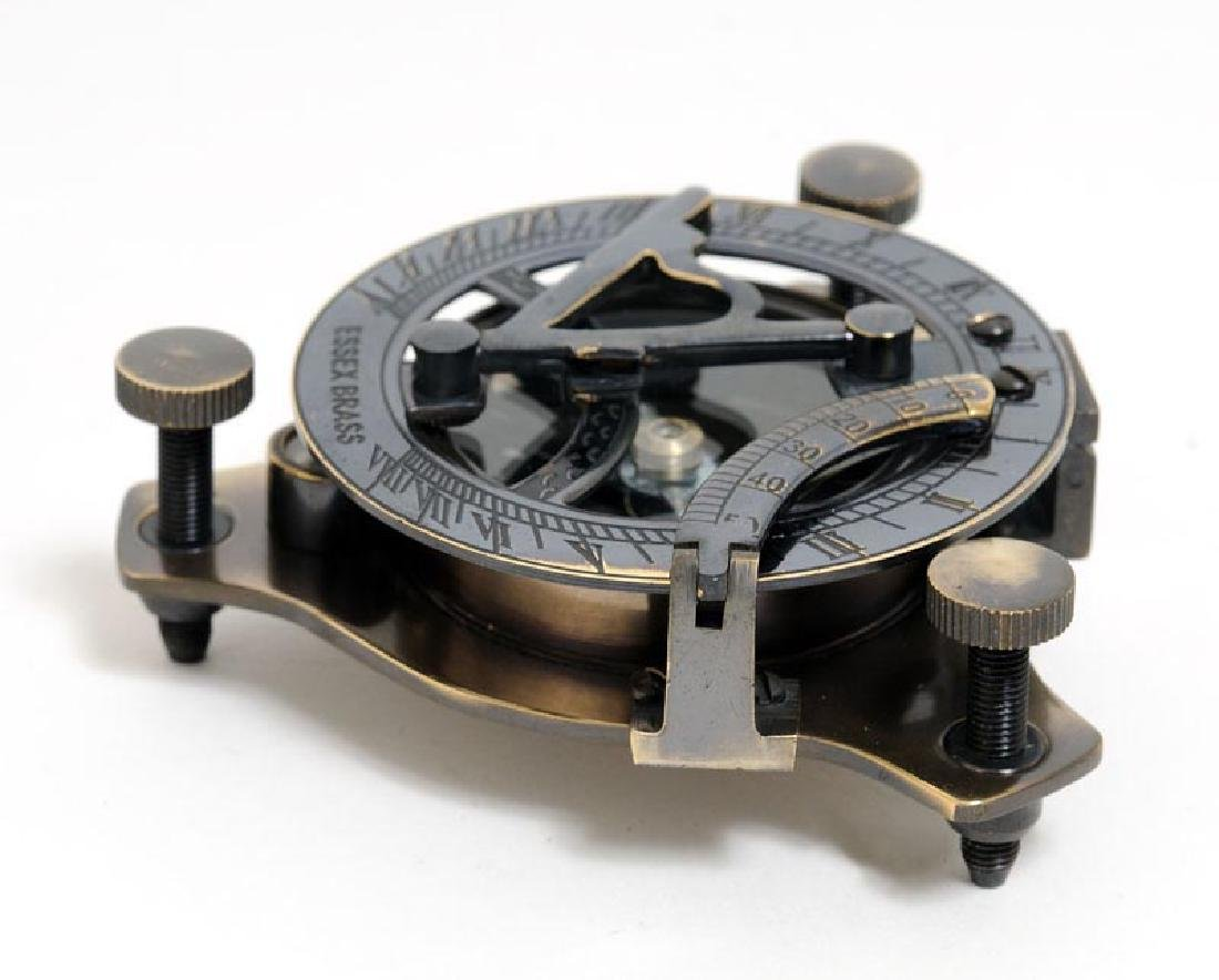 Sundial Compass in wood box