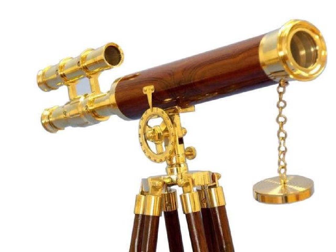 Floor Standing Brass/Wood Griffith Astro Telescope 50in