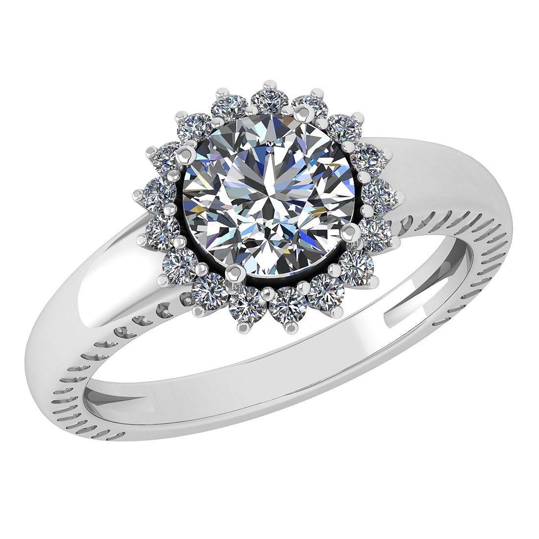 Certified 1.48 Ctw Diamond Wedding/Engagement Style 14K