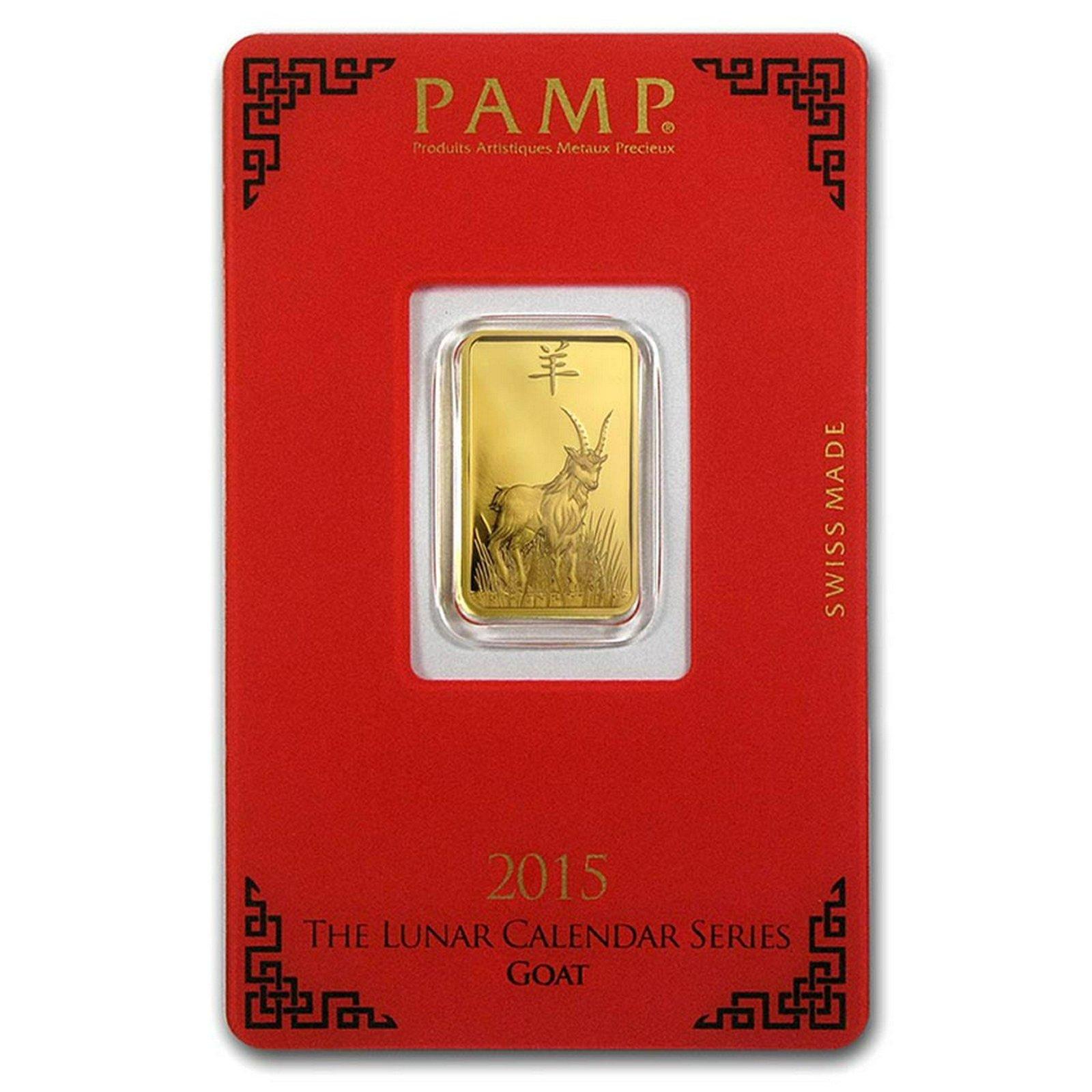 PAMP Suisse 5 Gram Gold Bar 2015 - Goat Design