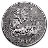 2018 10 oz Silver British Valiant BU