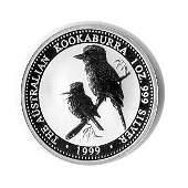 Australian Kookaburra 1 oz Silver 1999