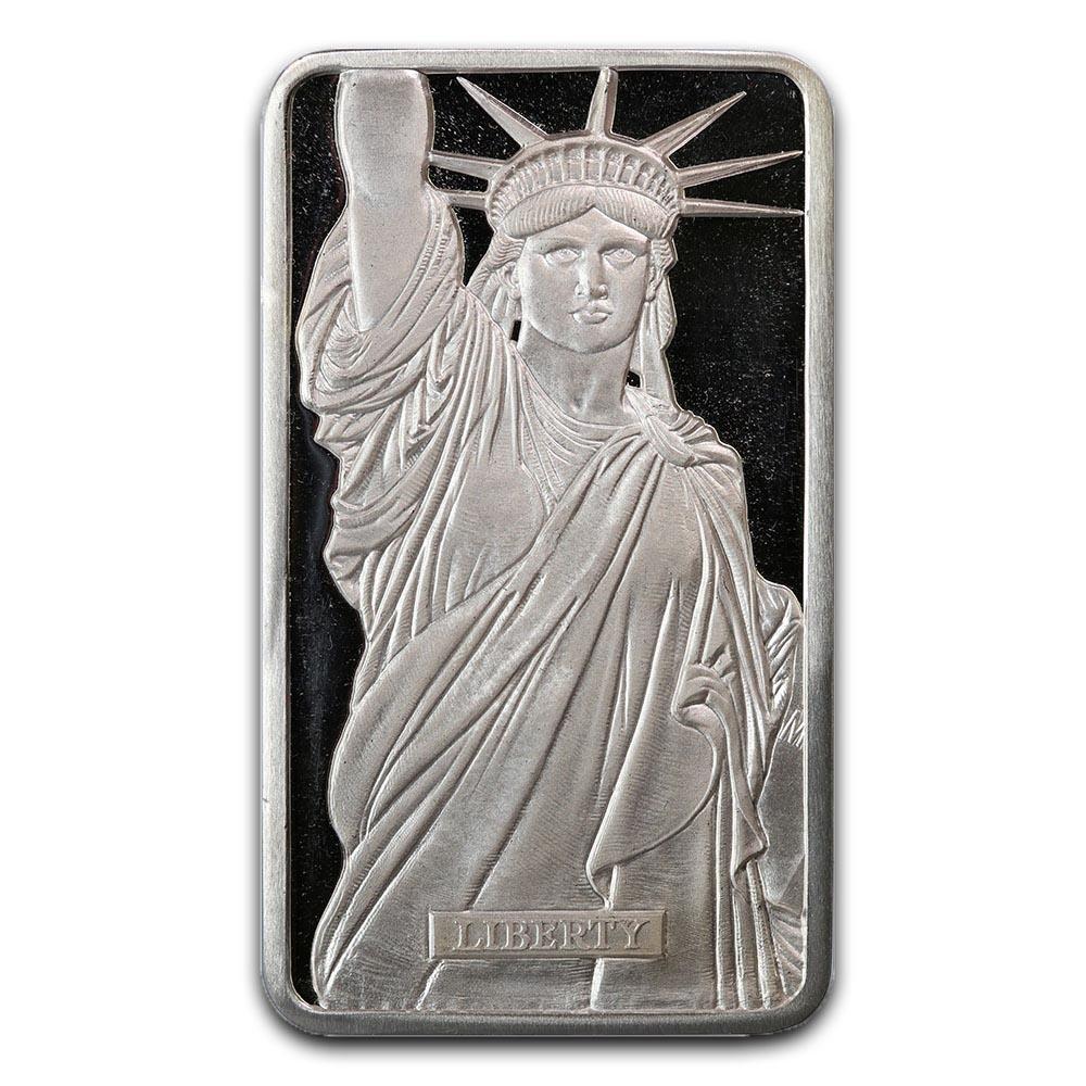 Metals Arts Mint 10 oz Bar - Statue of Liberty MTB Seri
