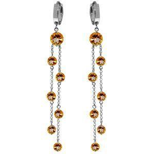 9.02 Carat 14K Solid White Gold Chandelier Earrings Cit