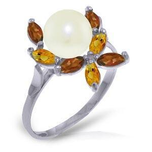 2.63 Carat 14K Solid White Gold Ring Natural Garnet Ci