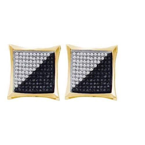 10KT Yellow Gold 0.25CTW DIAMOND MICRO PAVE EARRING