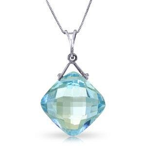 8.75 Carat 14K Solid White Gold Competence Blue Topaz N