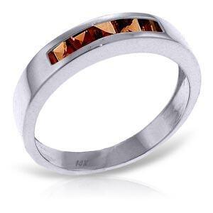 0.6 Carat 14K Solid White Gold Gloria Garnet Ring