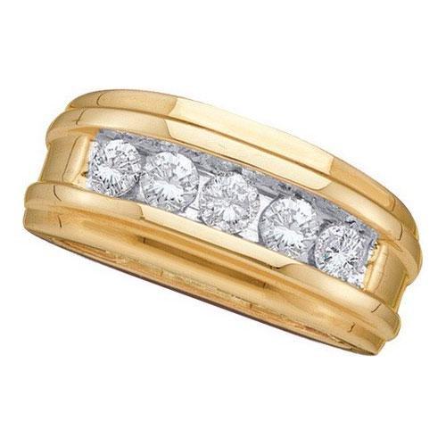 14KT Yellow Gold 0.50CTW DIAMOND MENS FASHION BAND