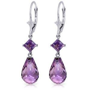 11 CTW 14K Solid White Gold Innovations Amethyst Diamon