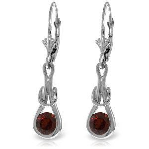 1.3 CTW 14K Solid White Gold This Side Earrings