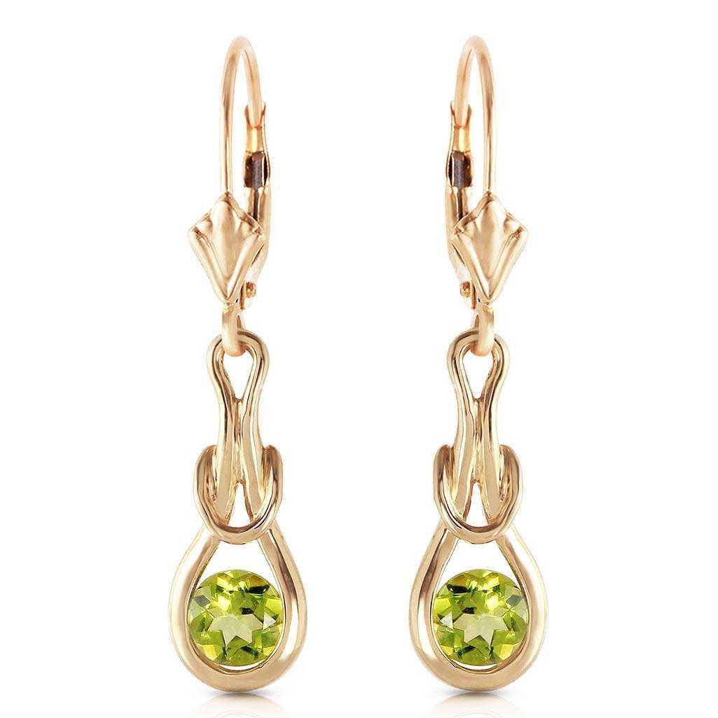 1.3 Carat 14K Solid Gold Elysian Peridot Earrings